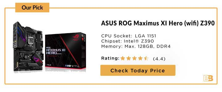 ASUS ROG Maximus XI Hero (wifi) Z390 Gaming Motherboard