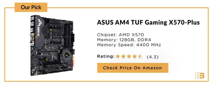 ASUS AM4 TUF Gaming X570-Plus (wifi) ATX Motherboard