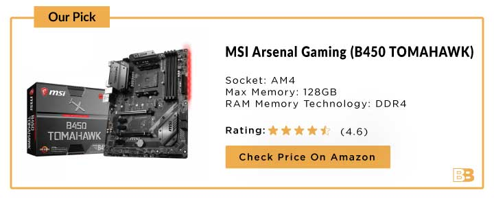 MSI Arsenal Gaming AMD Ryzen (B450 TOMAHAWK)