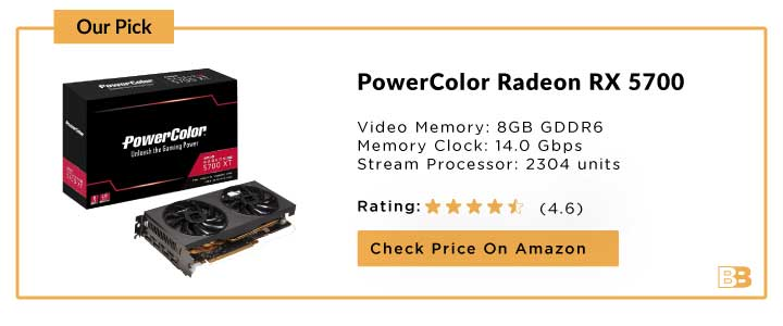 PowerColor Radeon RX 5700 Graphic Card 4096 MB